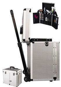 Sibel mobiele kappers trolley aluminium